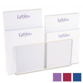 Elegant Notepad Set & Acrylic Holder