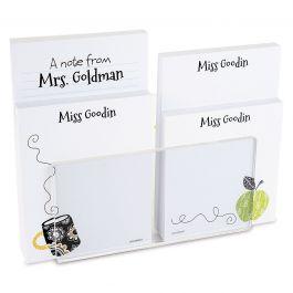 Teacher Notepad Set & Acrylic Holder
