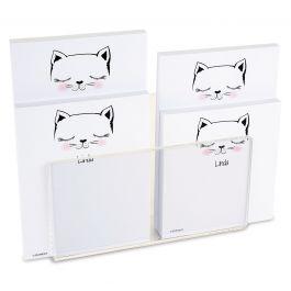 Kitty Ears Notepad Set & Acrylic Holder