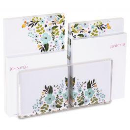 Aubrey Notepad Set & Acrylic Holder