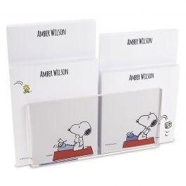 Snoopy's Typewriter Notepad Set & Acrylic Holder