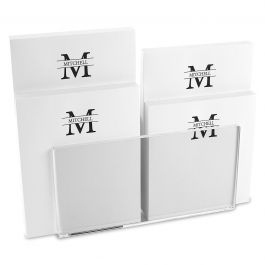 Front & Center Notepad Set & Acrylic Holder
