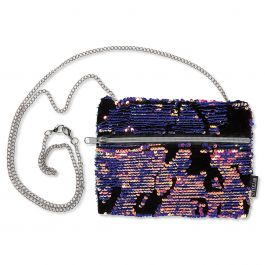 Velvet & Scattered Sequin Hip Bag