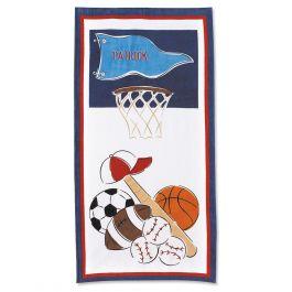 Sports Beach Personalized Towel Lillian Vernon