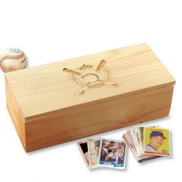 Baseball Bats Personalized Baseball Card Storage Box