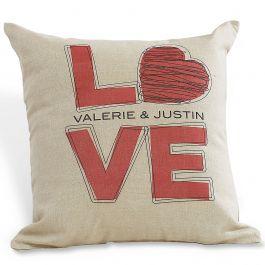 L O V E Personalized Pillow Lillian Vernon