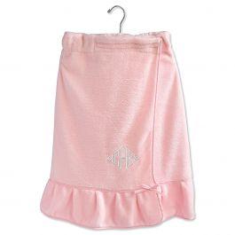 Pink Ruffle Spa Wrap - Diamond Monogram