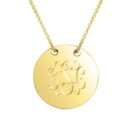 Personalized Sycamore Gold Vermeil Necklace