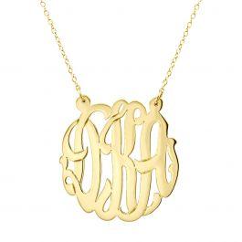 Monogrammed Gold Vermeil Necklace