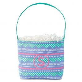 Loopty Fabric Easter Bucket - Initial
