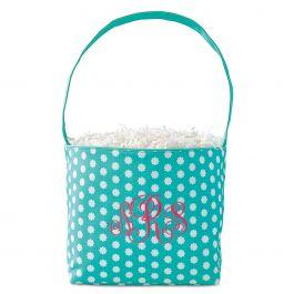 Bloom Fabric Easter Bucket - Monogram