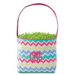 Zagmag Fabric Easter Bucket - Monogram