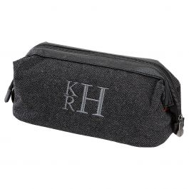 Personalized Grey Shave Kit - Stacked Monogram