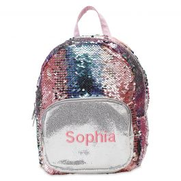 Personalized Magic Sequins Mini Backpack - Name
