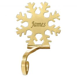 Snowflake Solid Brass Stocking Holder