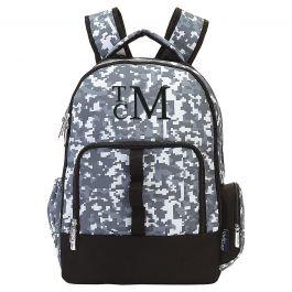 Personalized Digital Camo Backpack - Monogram