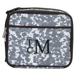 Personalized Digital Camo Lunch Tote - Monogram