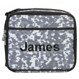 Personalized Digital Camo Lunch Tote - Name