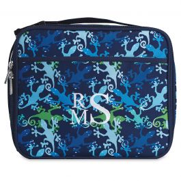 Personalized Gecko Lunch Tote - Monogram