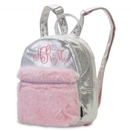 Mini Silver Shimmer Backpack - Monogram