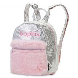 Mini Silver Shimmer Backpack - Name