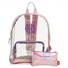 Personalized Sprinkles Clear Backpack - Monogram