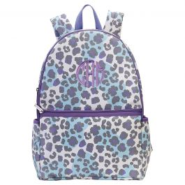 Personalized Snow Leopard Backpack - Monogram
