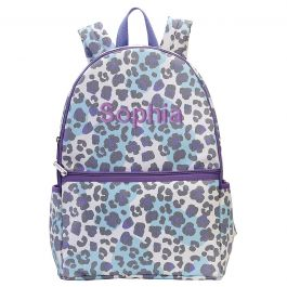 Personalized Snow Leopard Backpack - Name