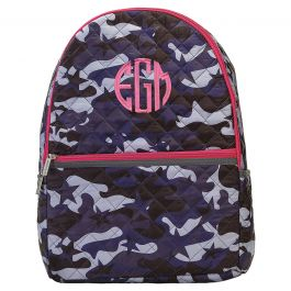 Personalized Midnight Blue Camo Backpack - Monogram