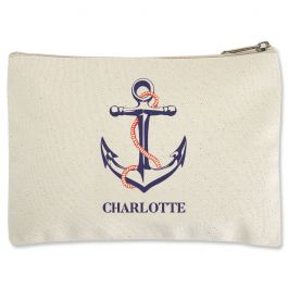 Anchor Zippered Pouch - Small