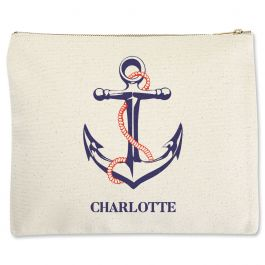 Anchor Zippered Pouch - Large