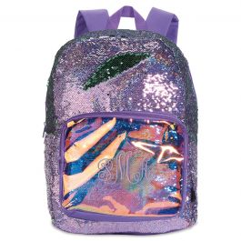 Personalized Purple Magic Sequin Holographic Backpack - Monogram
