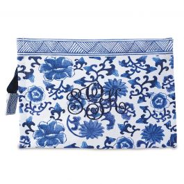 Monogrammed Chinoiseries Pouch - Floral