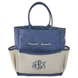 Personalized Garden Tote with Tools - Script Monogram