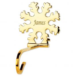 Solid Brass Stocking Holder Snowflake