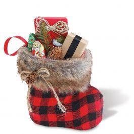Santa Boot with Fur Cuff – Small