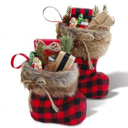 Santa Boot with Fur Cuff – Small and Large Set