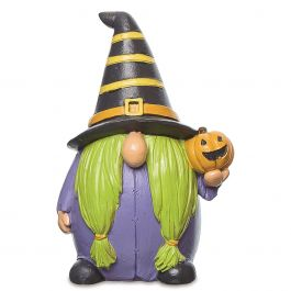 Resin Gnome Witches - Stripe Hat