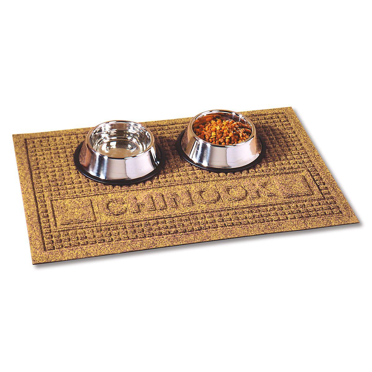 Textured Pet Dining Mat-Gold-2L094D