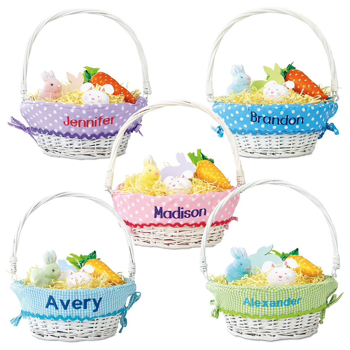 wicker baskets with liner