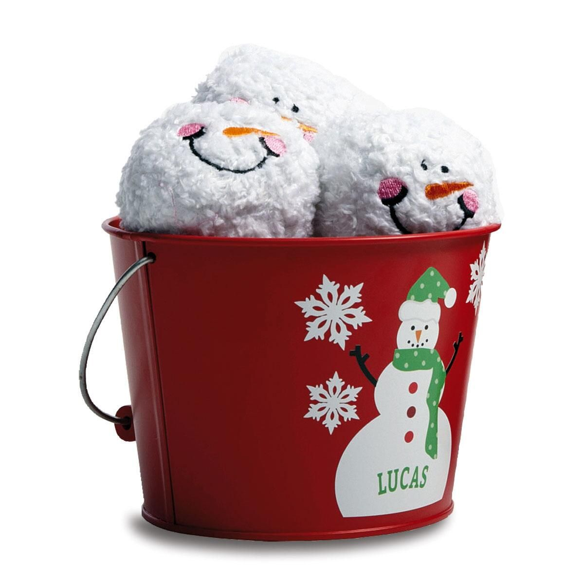 Snowman Indoor Snowball Fight Kit by Designer Maureen Anders