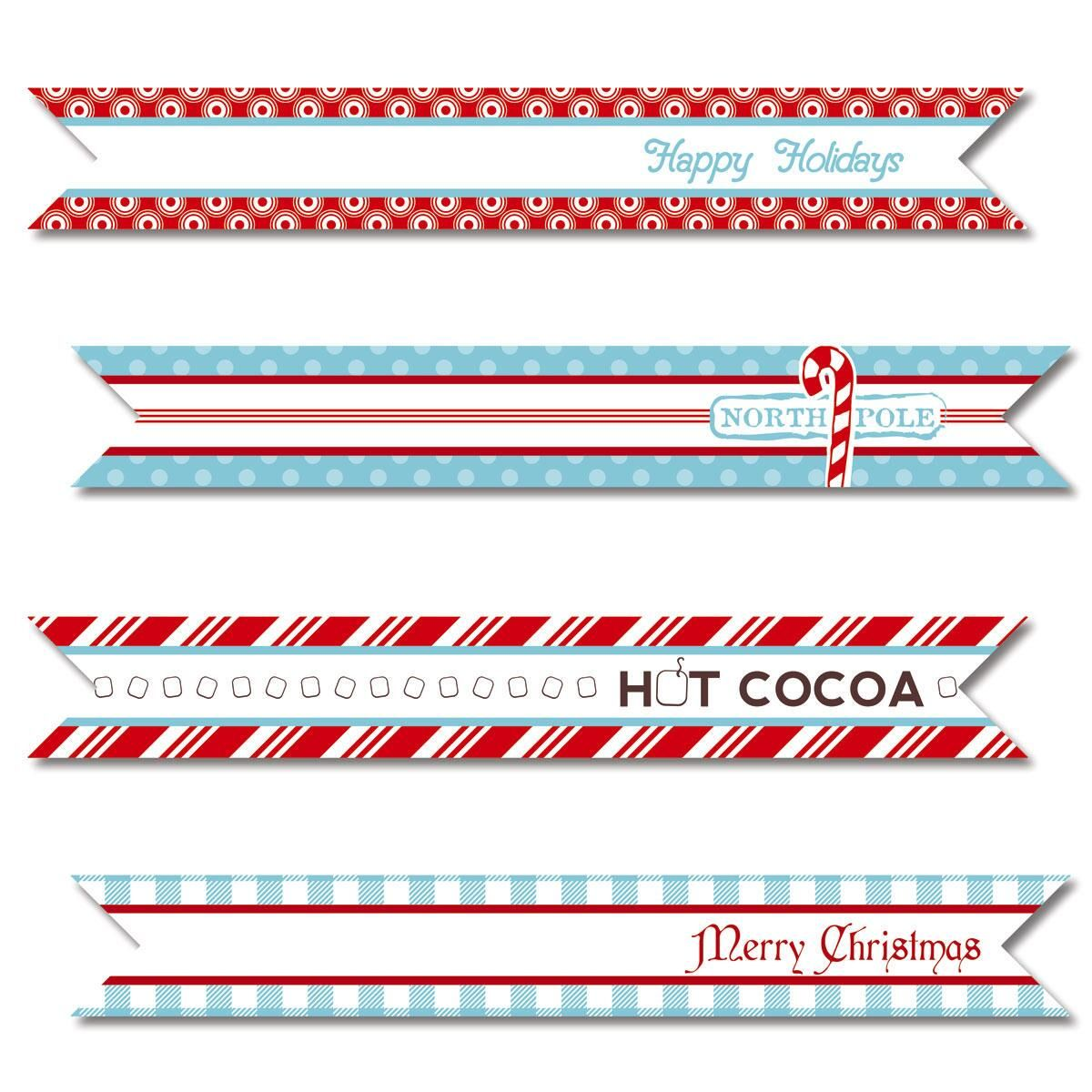 Santa Holiday Red & Blue Flags by Designer Maureen Anders