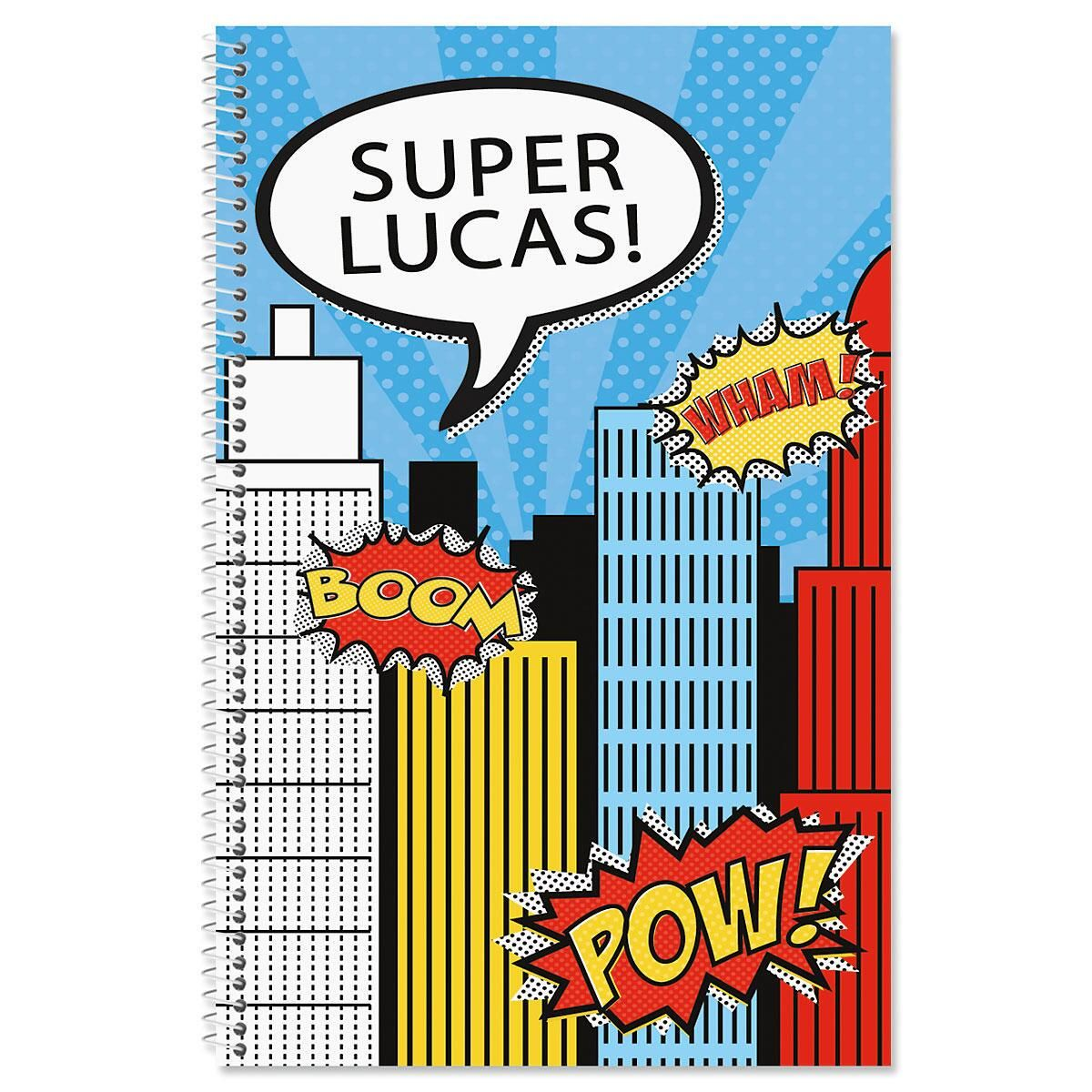 Super Heroes Personalized Notebook by Designer Maureen Anders