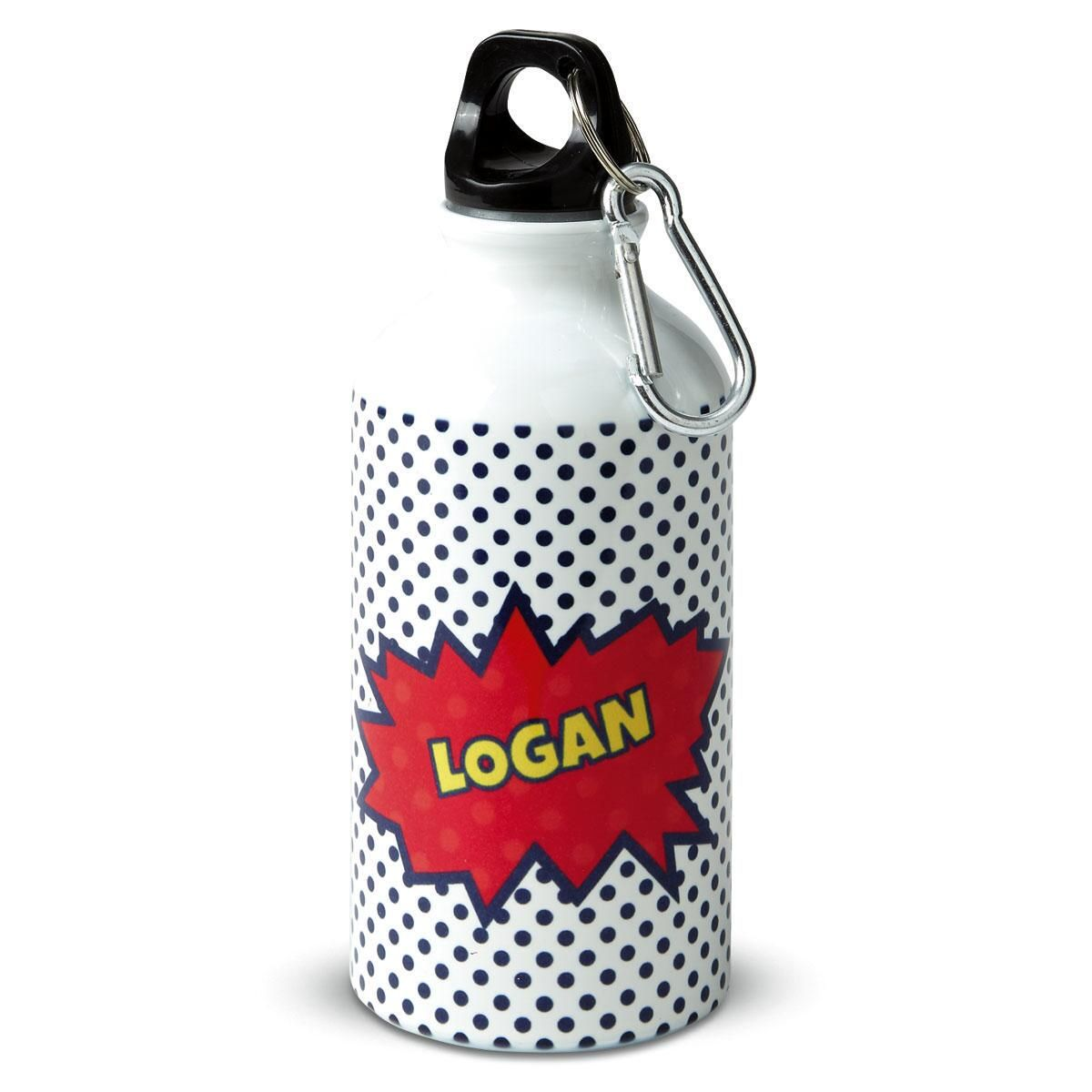 Super Heroes Personalized Water Bottle by Designer Maureen Anders