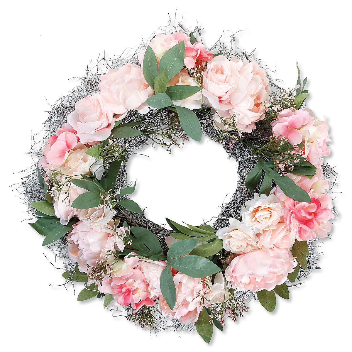 "Peony, Rose, Hydrangea 20"" Wreath"