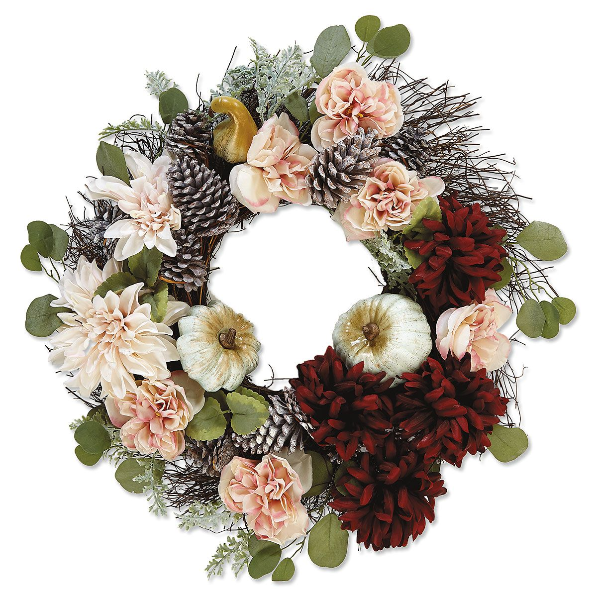 Rose & Pinecone Wreath