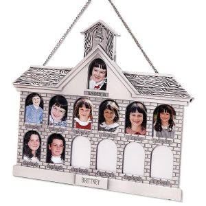Personalized Schoolhouse Frame - Silver Finish