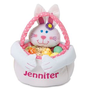 Girls Plush Easter Bunny Personalized Tote