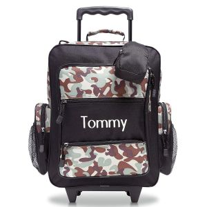 Black Camo Rolling Luggage