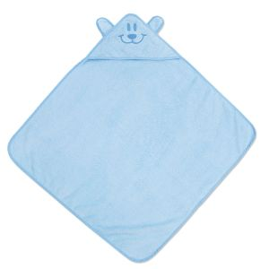 Blue Bear Hooded Animal Towel